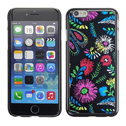 Soft Silicone Rubber Case Hard Cover Protective Accessory Compatible with Apple iPhone? 6 (4.7 Inch) - colors fabric fashion clothes flowers