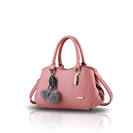 NICOLE&DORIS Femmes élégant Top Handle sac à main Messenger Shoulder Purse Fourre-tout Casual Work Bag Satchel Zipper Rose ax2sl