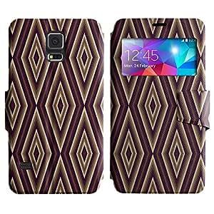 LEOCASE patrón increíble Funda Carcasa Cuero Tapa Case Para Samsung Galaxy S5 I9600 No.1005196