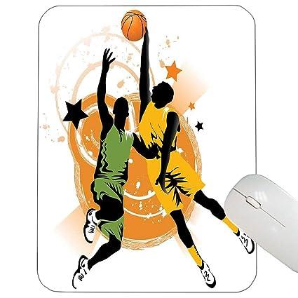e950555bcfeb6 Amazon.com : Sports Decor Support Mouse pad Image of Two Basketball ...