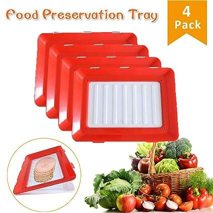 Amazon.com: Vaughenda Bandeja de plástico para alimentos ...