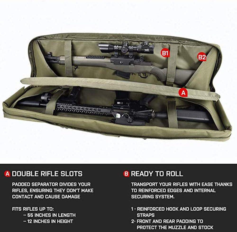 HomeARTS Caso del Rifle Táctico Sólido Tejido Reforzado De Espuma Espesada Puntada Doble Long Rifle Pistola Bolsa Táctica Caso Caza Y Tiro: Amazon.es: Hogar