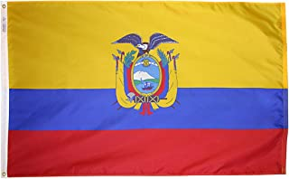 product image for Annin Flagmakers Model 192330 Ecuador Flag 3x5 ft. Nylon SolarGuard Nyl-Glo 100% Made in USA to Official United Nations Design Specifications.