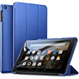 ESR Case for Fire HD 8 Tablet(8th /7th /6th gen, 2018/2017/2016 Release),Auto Sleep/Wake,Lightweight Smart Trifold Stand Case,Microfiber Lining,Hard Back Cover Compatible with Fire HD 8 Inch,Navy Blue