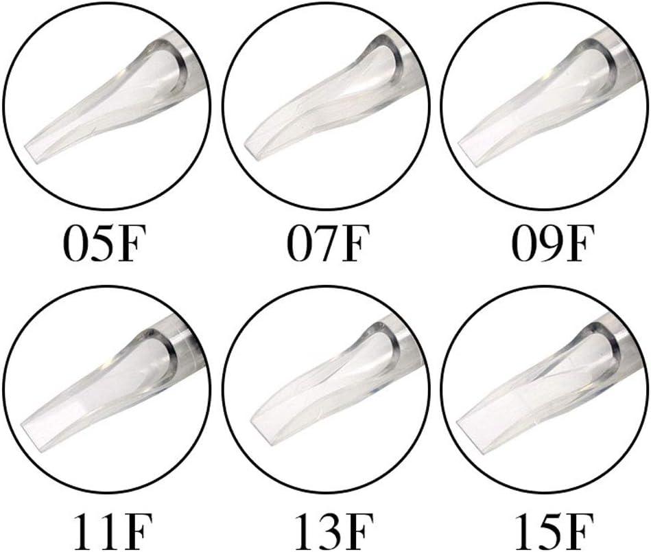 Color : 7FT QQYTS Tattoo Needle Disposable Tattoo Fine Grain Transparent Rod Gray Plastic Handle Diameter 30mm 20 Box