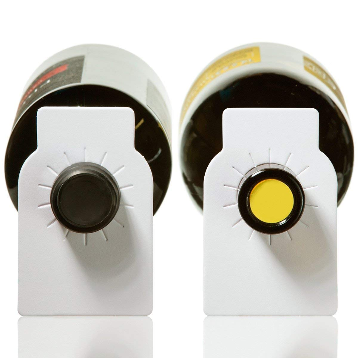 100 etiquetas de la bodega del papel del grano llano Etiquetas de la botella de vino del Libro Blanco