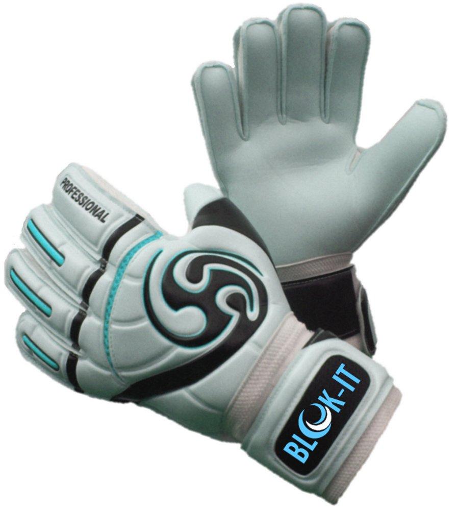 Blok-iT ゴールキーパーグローブ 強固な守備に役立つ高品質のゴールキーパーグローブ 特別なパッドで怪我の危険性を減らしつつ、安全で快適な装着感 B071X9DTDJ サイズ10 =大人 L|空色 空色 サイズ10 =大人 L
