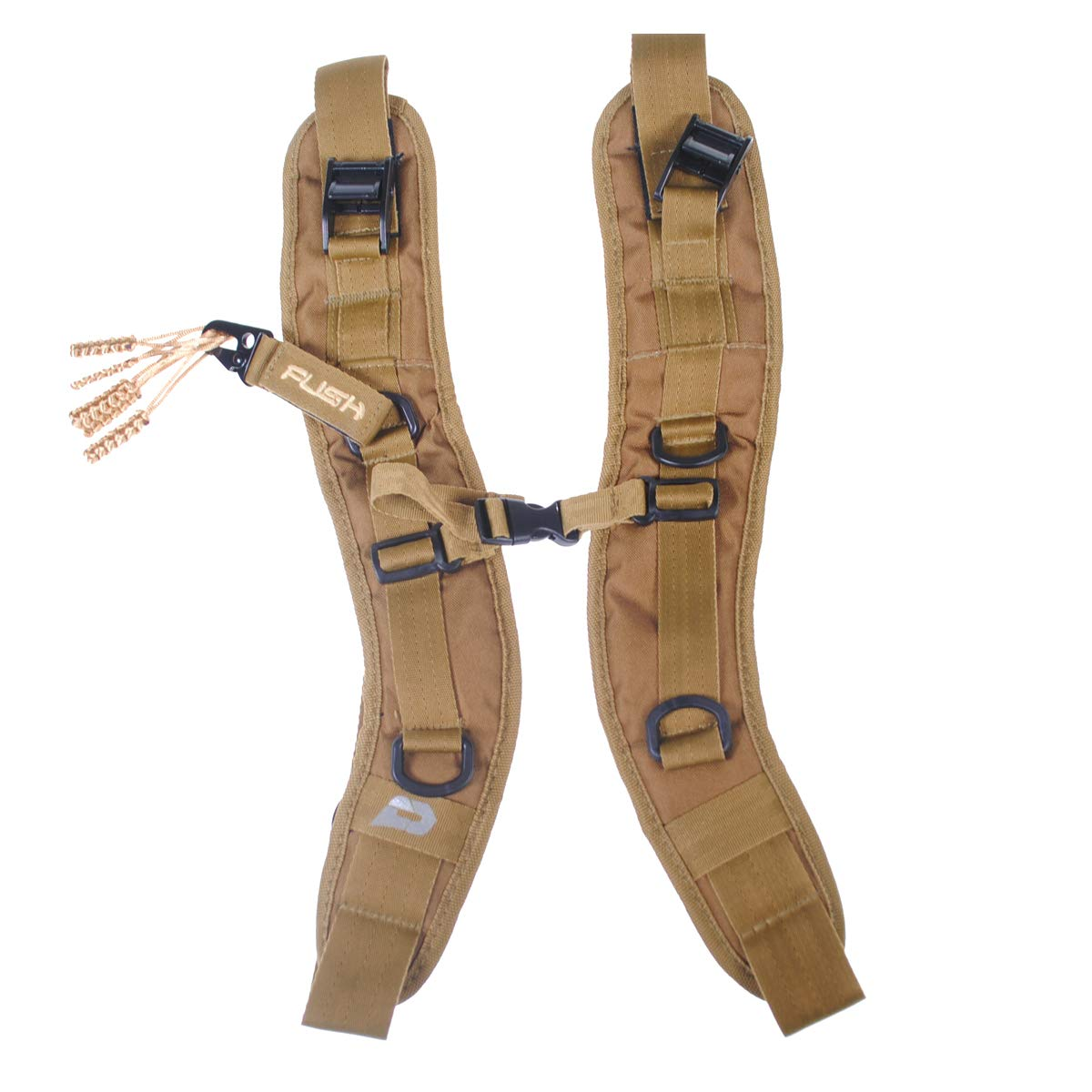 PUSH Paintball Backpack and Div1 Gear Bag Strap Kit (Tan)
