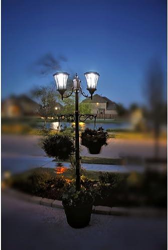 Sun-Ray Martens Solar Lamp Post and Planter