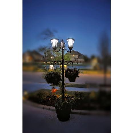 Sun Ray Martens Solar Lamp Post And Planter Amazon Com