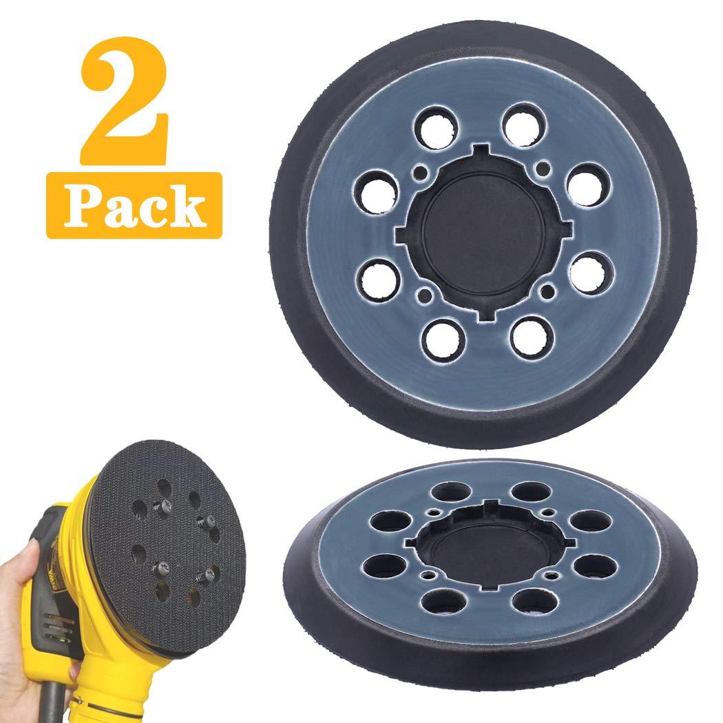 DWE6421-B2 DCW210B DWE6421-B3 DWE6421//6421K DWE6421-BR 2 Packs 5 inch 8 Hole Hook and Loop Replacement Sanding Pad for DeWalt DWE64233 /& N329079 Compatible with DWE6423//6423K