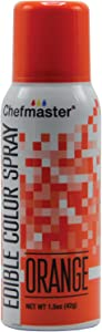 Chefmaster Edible Spray Cake Decorating Color 1.5 Ounce Can - Orange
