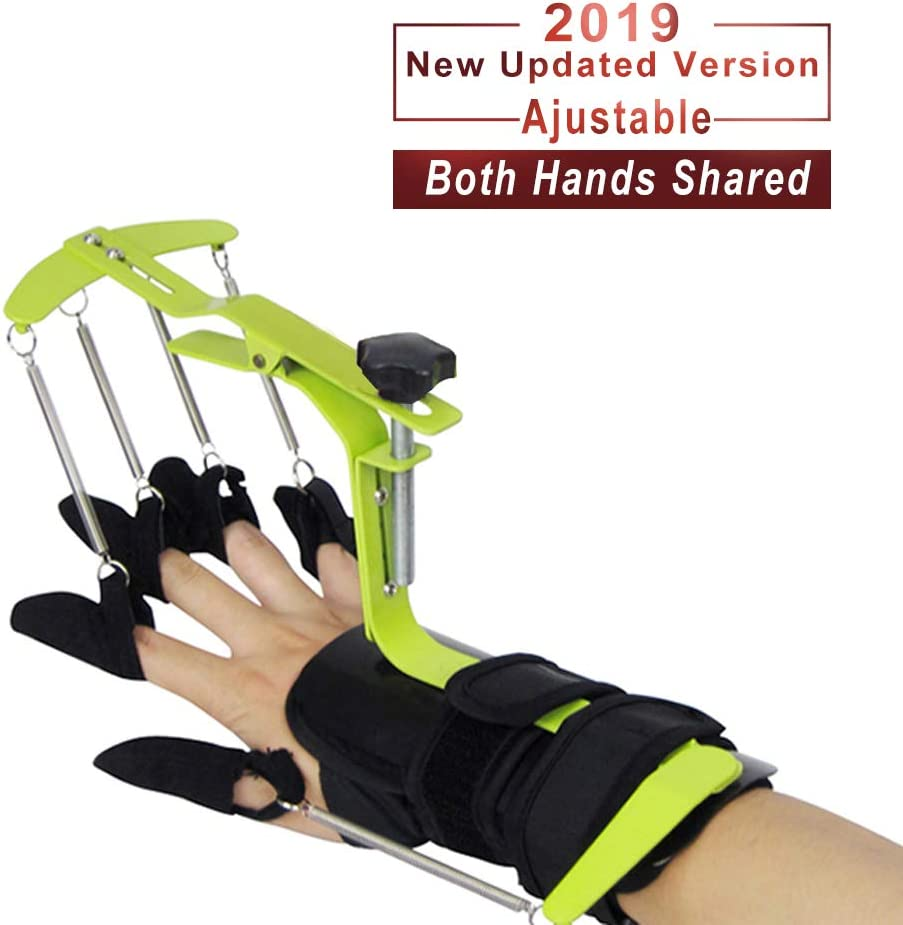 KONLIKING Finger Brace Splint Support Rehabilitation Training Device Hand Impairment Finger Squeeze Equipment for Stroke Spinal Cord Traumatic Brain Injury Medical Training for Hemiplegia