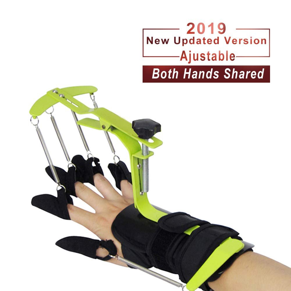 Konliking Finger Brace Trigger Splint Support Rehabilitation Training Device Hand Impairment Finger Squeeze Equipment for Stroke Spinal Cord Traumatic Brain Injury Medical Training for Hemiplegia