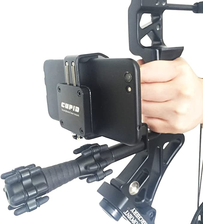 Details about  /Black Smartphone Mount Phone Holder Archery Accessory Hunting Moment Recorder