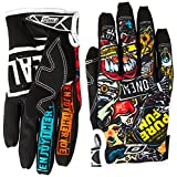 O'Neal Jump Gloves with Crank Graphic (Black/Multicolor, Size 11)