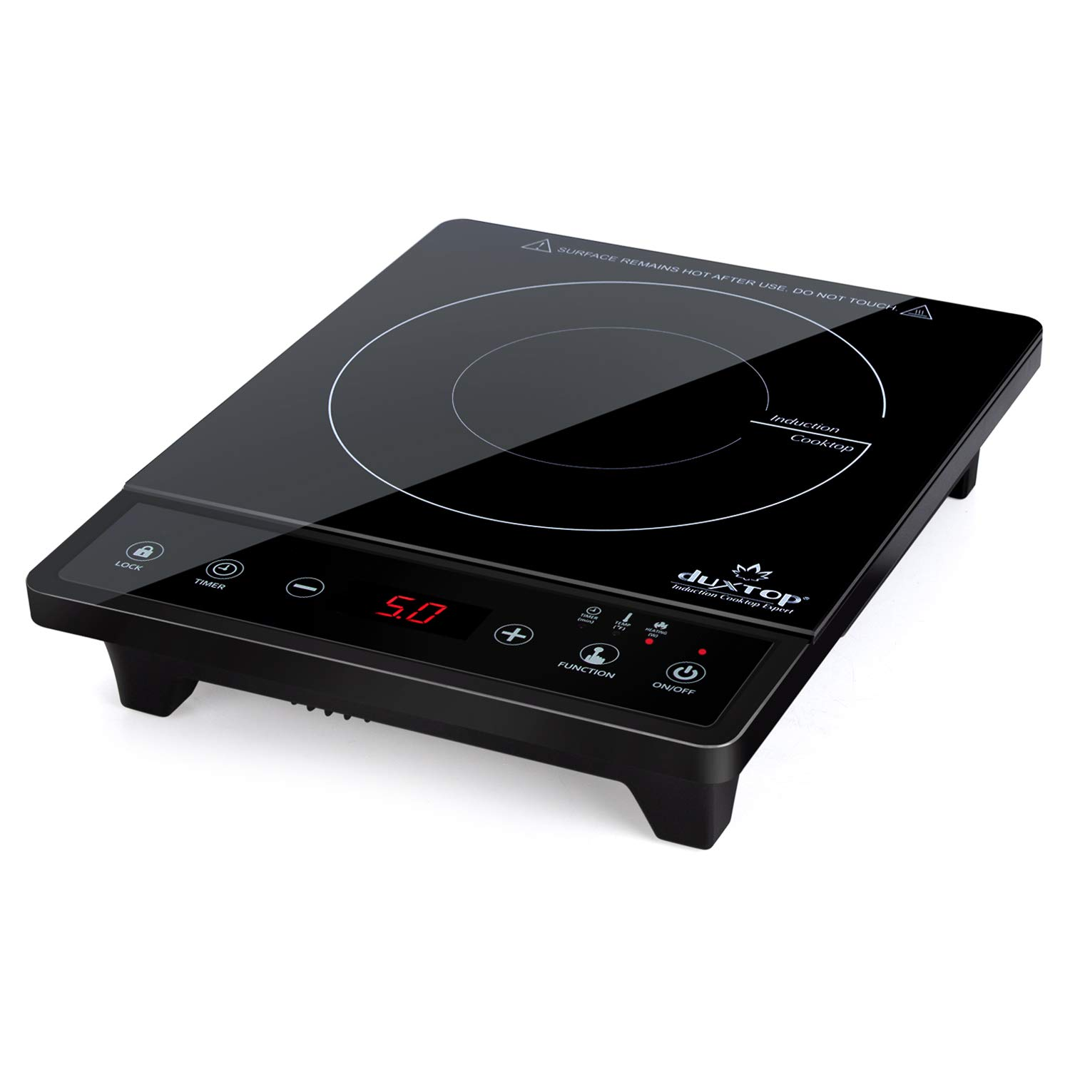 Duxtop Portable Induction Cooktop, Countertop Burner, Induction Burner with Timer and Sensor Touch, 1800W