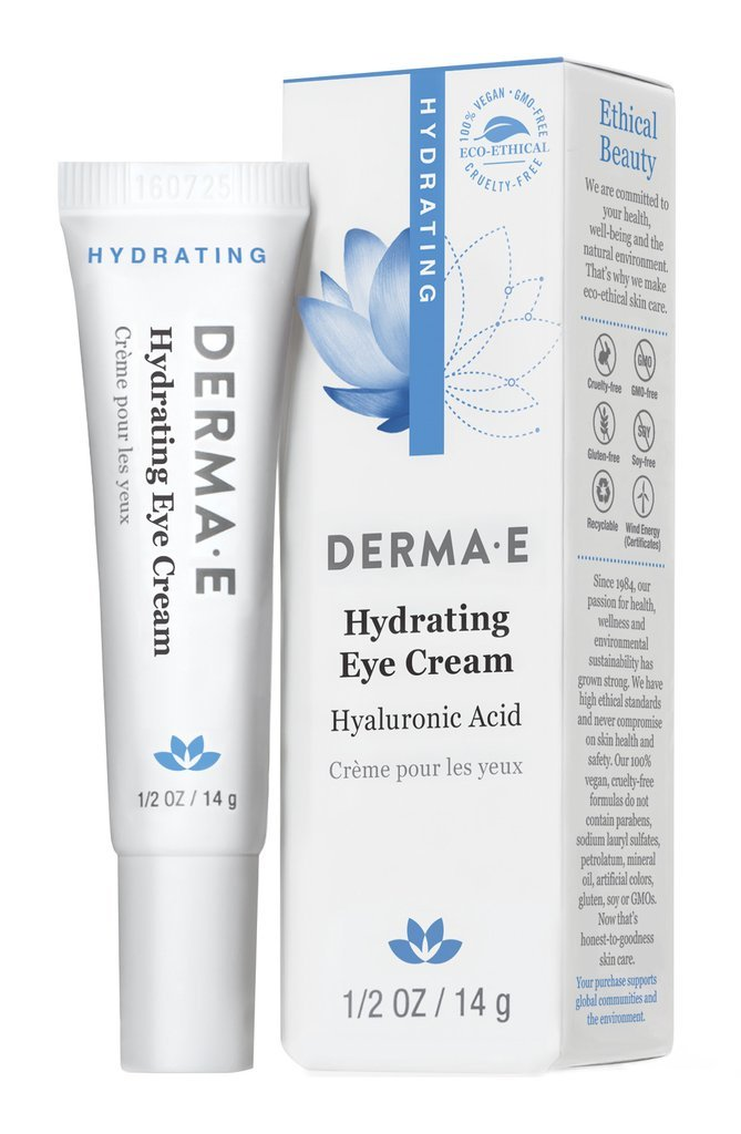 DERMA E Hydrating Eye Crme with Hyaluronic Acid and Pycnogenol 1/2 oz