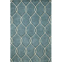 Momeni Rugs BLISSBS-12TEL2030 Bliss Collection, Hand Carved & Tufted Contemporary Area Rug, 2 x 3, Teal Blue