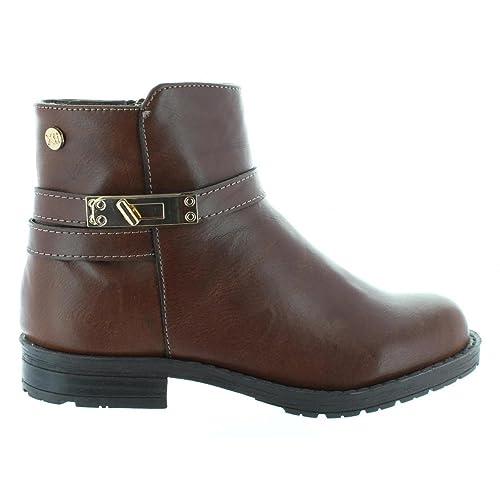 XTI - Botines de Mujer y Niña 53835 C MARRON: Amazon.es: Zapatos y complementos