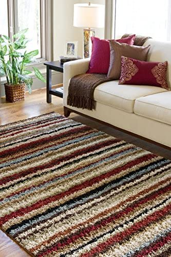 Paolo Red Shag Area Rug 7 10 x 10 10