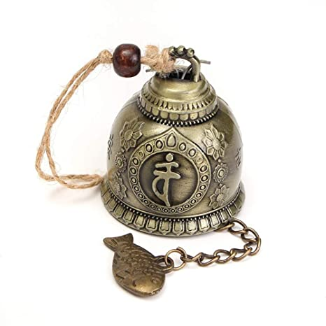 Retro-Buddha-Windspiel Feng Shui zum Aufh/ängen PERIWIN Windspiel Gl/ücksglocke f/ürs Auto