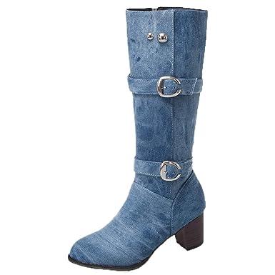 Cavaliere Donna Jjggsi4 Da Alti The Stivali Cowboy Knee qUzSVMp