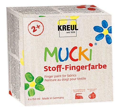 Mucki 28400 - Fingerfarbe Textil 4er Set