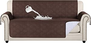 100% Waterproof Couch Covers for Living Room Quilted Sofa Furniture Covers for 3 Cushion Couch Machine Washable Protect from Pets Wear and Tear (SeatWidthUpto 68