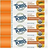 Tom's of Maine Moisturizing Organic Lip Balm, Peppermint, 4 count