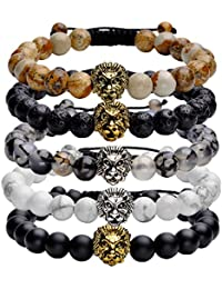 Top Plaza Jewelry Lava Rock Stone Matte Black Agate Mens...
