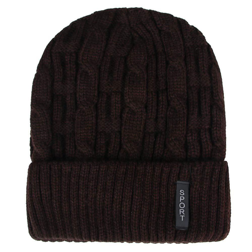 TwoCC-Gorro de punto, cálido gorro de lana de invierno ...