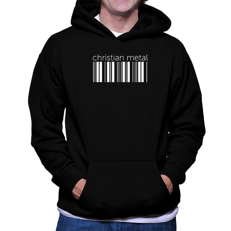 Christian Metal barcode Hoodie