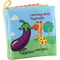 Threecat My First Soft Book, Nontoxic Fabric Baby Cloth Books Early Education Toys Activity Crinkle Cloth Book for Toddler, Infants and Kids Perfect for Baby Shower (NO10)
