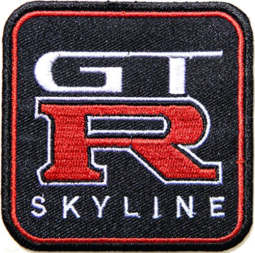 [GTR GT-R NISSAN Logo Sign Car Racing Patch Iron on Applique Embroidered T shirt Jacket Costume Gift BY] (Book Week Group Costumes)