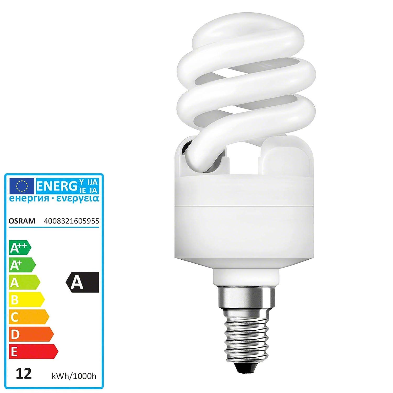 Osram Energiesparlampe Twist 12 W, E14, warmweiß 605955 Duluxstar Twist