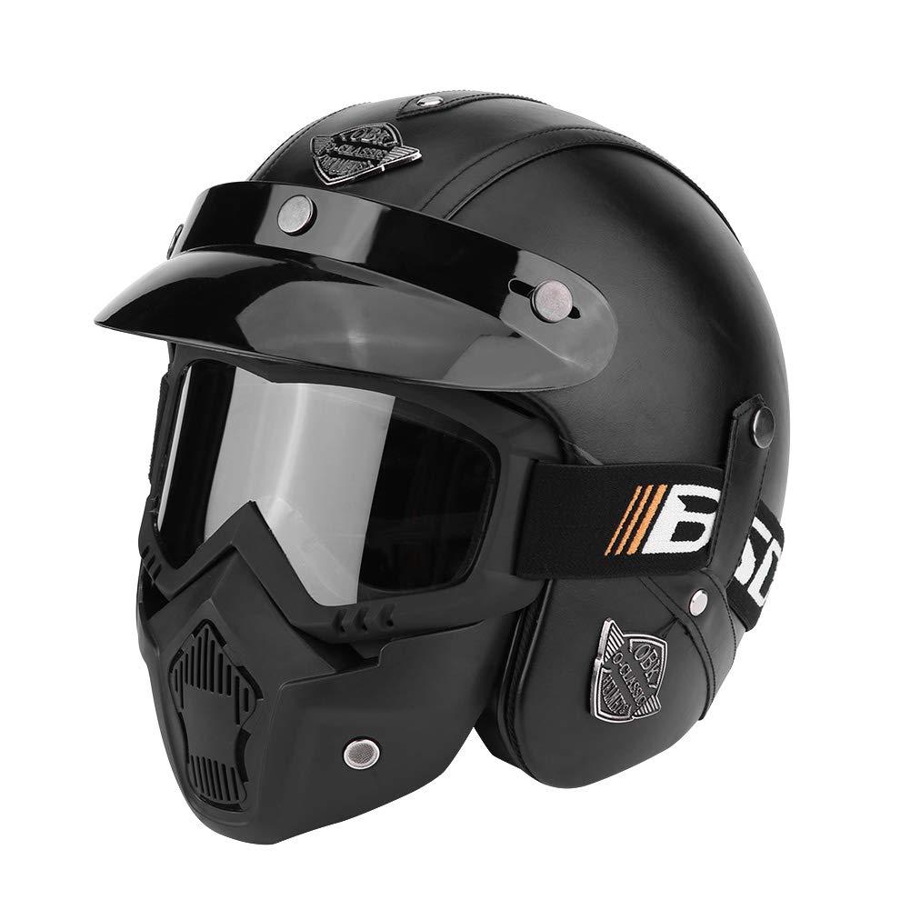 Cara antiviento y destornillador Modular Full Face Racing casco de Moto UV gafas de sol protectoras Ciclismo m/áscara de Equitaci/ón M L XL Struzzo Nero XL Zerone casco de Moto con gafas