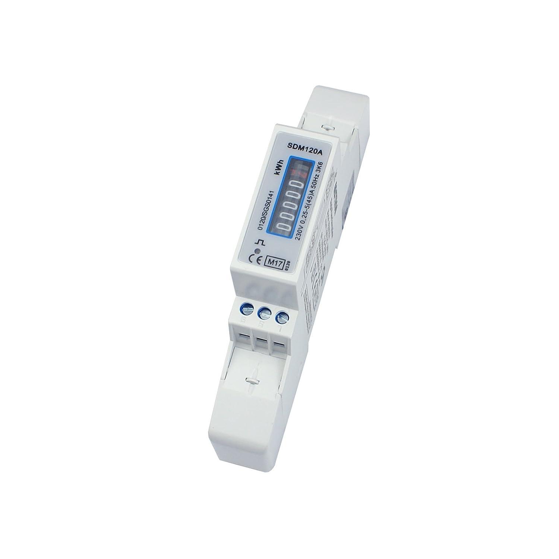 A für Hutschiene 45 Wechselstromzähler mit Rollenzählwerk Energiemessgerät S0 5