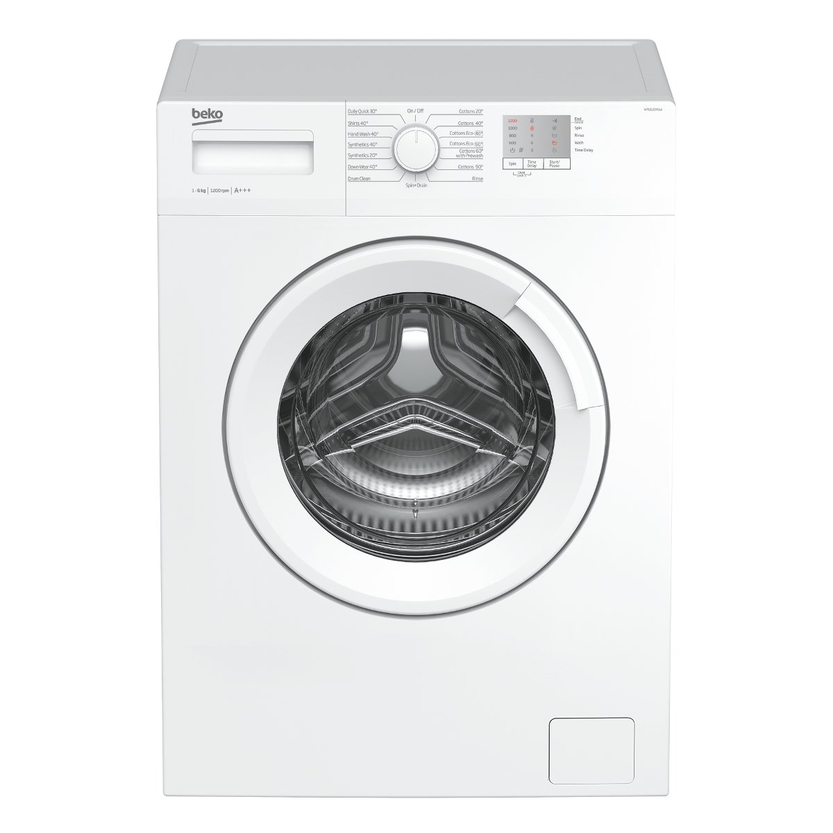 Beko WTG620M1W 6kg 1200rpm Freestanding Washing Machine - White [Energy Class A+++]