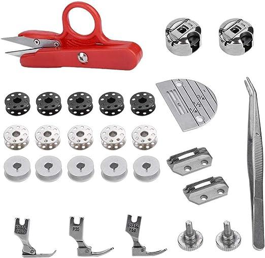 Akozon Accesorios para máquinas de coser 27 piezas, Multifuncionales Prensatelas Accesorios de Máquina de Coser: Amazon.es: Hogar