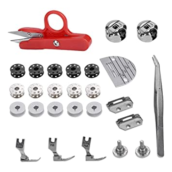 Kit de accesorios para máquina de coser, 27 piezas de accesorios para máquina de coser