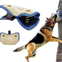 ZINN Bijtmouw Hond Training Bescherming,Sterke Linnen Bijt Training Arm Bescherming met 2 Handgrepen,Bijten Wedge voor…