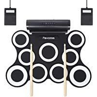 Paxcess 9 Pads Electric Drum Set with Headphone Jack Built in Speaker and Battery