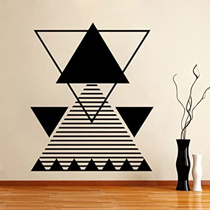 Amazon Com Triangle Wall Decals Abstract Lines Vinyl