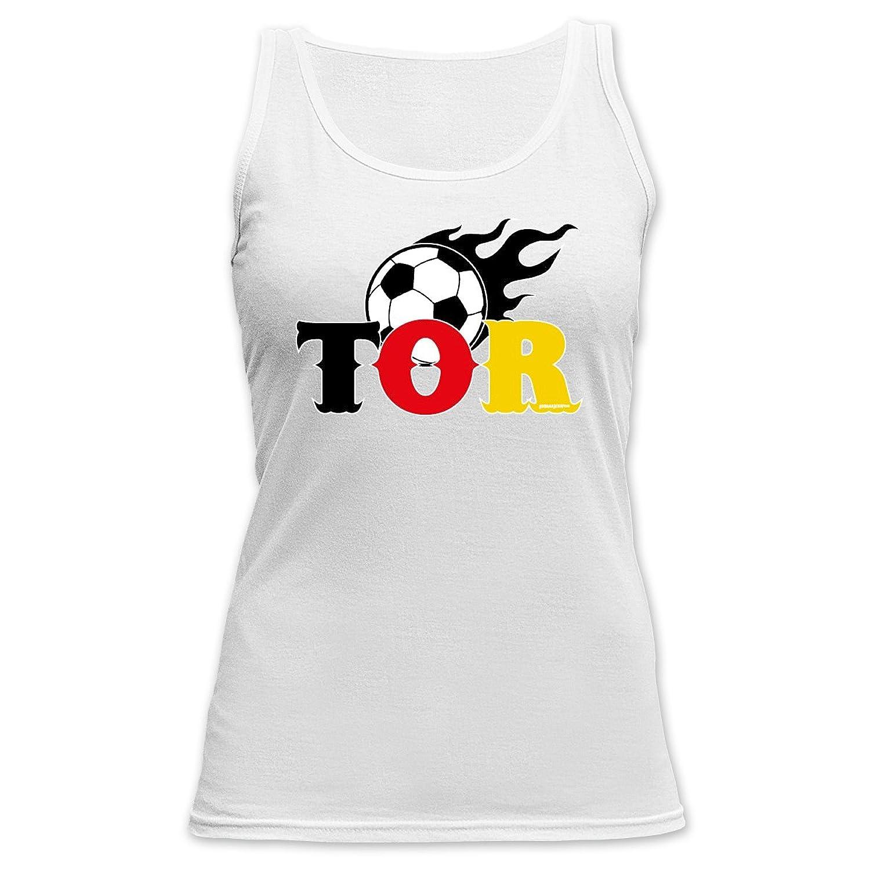 Cooles Damen Fußballshirt / Tank Top Damen : Tor -- Fussball Damenshirt Farbe: weiss