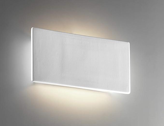 Applique led w k moderno lampada da parete ceramica cristaly