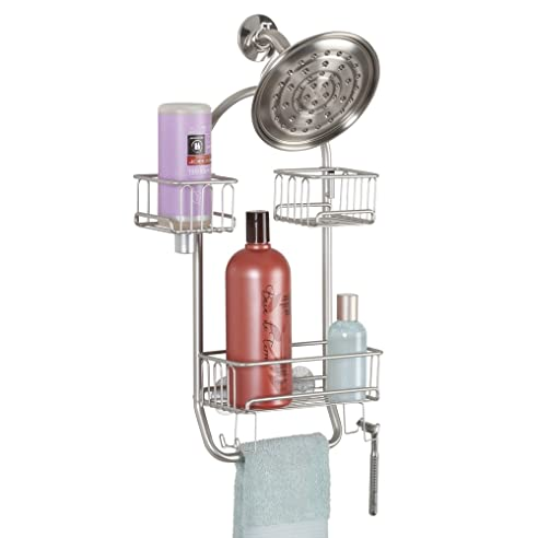 mdesign duschablage zum hngen praktisches duschregal ohne bohren zu montieren flexible duschkrbe zum - Duschzubehor Zum Hangen
