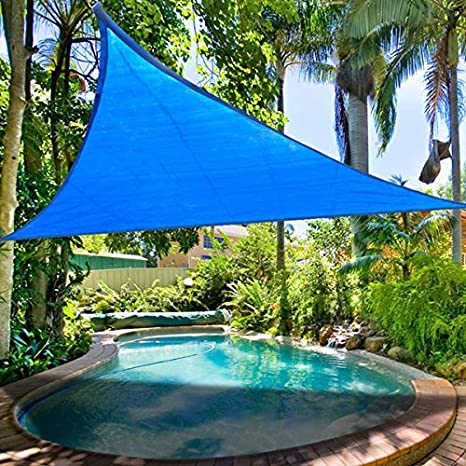 11.5u0027 Ft Triangle Outdoor Sun Shade Sail Canopy Blue PE Material UV Protection Portable for  sc 1 st  Amazon.com & Amazon.com: 11.5u0027 Ft Triangle Outdoor Sun Shade Sail Canopy Blue ...