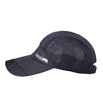 63eeaf2431ea5 Someas Quick Dry Waterproof Breathable Running Outdoor Flex Fit Baseball  Sun Cap Sports Hat-Black