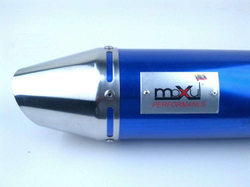 150 cc high flow scooter muffler exhaust BLUE HIGH PERFORMANCE SPORTS LOUD